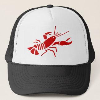 赤いロブスターのトラック運転手の帽子 キャップ