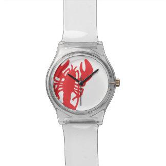 赤いロブスター 腕時計