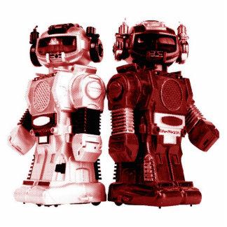 赤いロボットフォトスカルプチャー 写真彫刻(台付き)