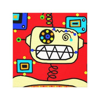 赤いロボットポートレート キャンバスプリント