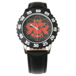 赤いロボット時間 腕時計