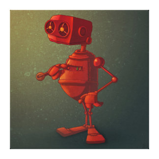 赤いロボット キャンバスプリント