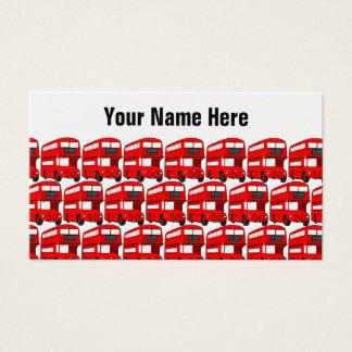 赤いロンドンの二重デッカーバス旅行壁紙 名刺