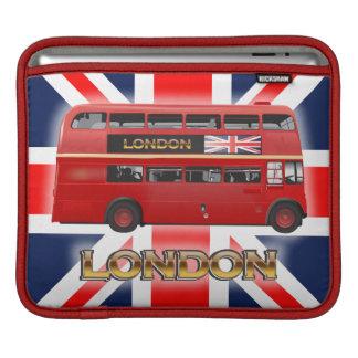 赤いロンドンの二重デッカーバス iPadスリーブ