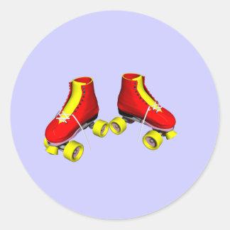 赤いローラースケート ラウンドシール