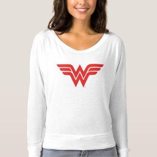 赤いワンダーウーマンのロゴ Tシャツ