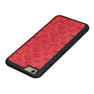 赤いヴィンテージの貝殻 CarvedメープルiPhone 6 PLUSバンパーケース