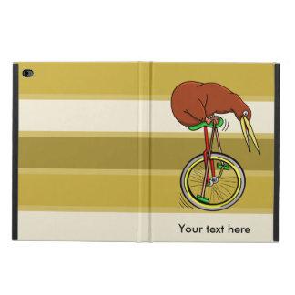 赤い一輪車のブラウンの小さいキーウィ POWIS iPad AIR 2 ケース