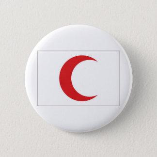 赤い三日月形の旗 5.7CM 丸型バッジ