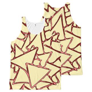 赤い三角形パターン オールオーバープリントタンクトップ