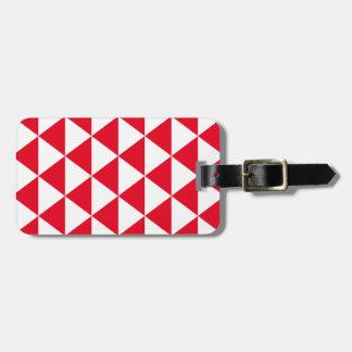 赤い三角形パターン ラゲッジタグ