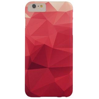 赤い三角面の幾何学的なパターンの陰 BARELY THERE iPhone 6 PLUS ケース
