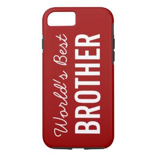 赤い世界で最も最高のな兄弟のカスタムなiPhone 7の場合 iPhone 8/7ケース