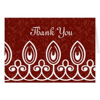赤い中世ブロケードは感謝していしています カード