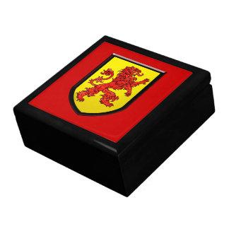 赤い中世ライオンの黄色の盾 ギフトボックス