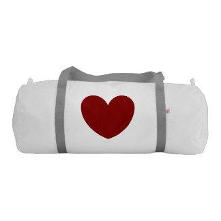 赤い中心の白い顧客用体育館のバッグ ジムバッグ