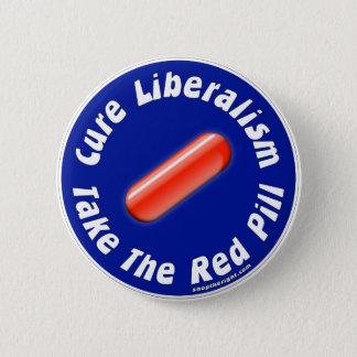 赤い丸薬ボタンを取って下さい 5.7CM 丸型バッジ
