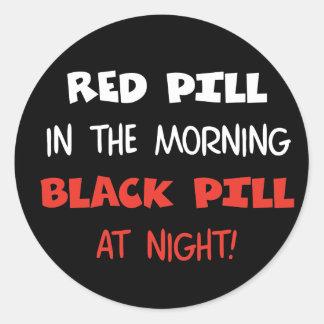 赤い丸薬黒の丸薬 ラウンドシール