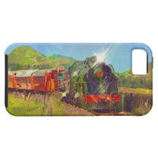 赤い乗客の蒸気の列車のiPhone 5の箱 iPhone SE/5/5s ケース