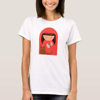 赤い乗馬フードおよび大きく悪いオオカミ Tシャツ