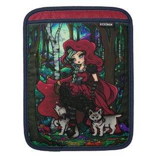 赤い乗馬フードのおとぎ話のiPadの袖ハナリン iPadスリーブ