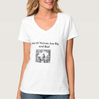 """赤い乗馬フードは""""すべてのオオカミではないです大きく、悪い状態"""" Tシャツ"""