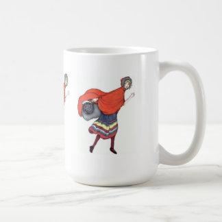 赤い乗馬フード1920年 コーヒーマグカップ