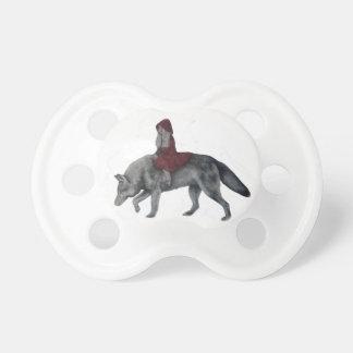 赤い乗馬フード おしゃぶり