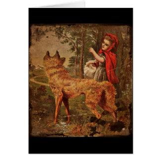 赤い乗馬フード カード