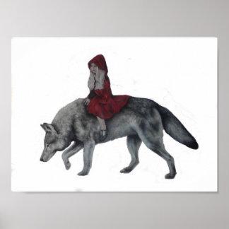 赤い乗馬フード ポスター