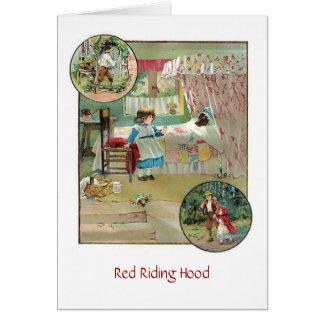 赤い乗馬フード(中ブランク) カード