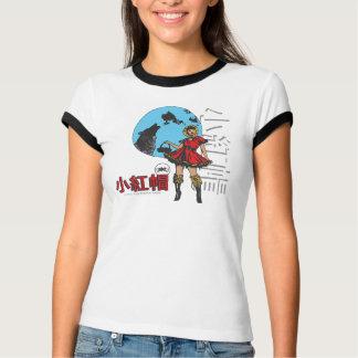 赤い乗馬フード(青い) Tシャツ