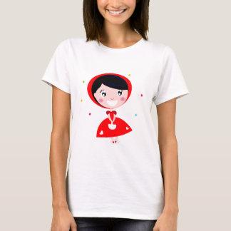 赤い乗馬フード Tシャツ