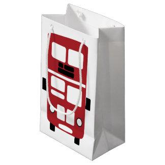 赤い二重デッカーバスギフトバッグ スモールペーパーバッグ