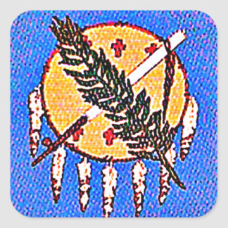 赤い人々のオクラホマの土地 スクエアシール