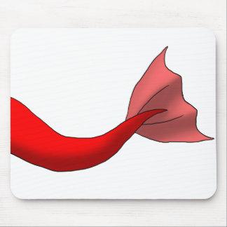 赤い人魚の尾 マウスパッド