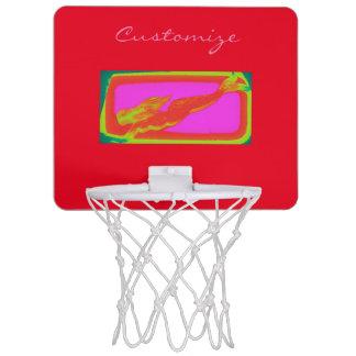 赤い人魚の水泳 ミニバスケットボールゴール