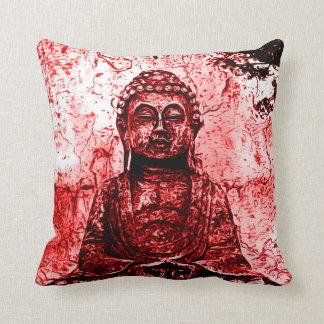 赤い仏アールヌーボーのプラシ天の装飾用クッション クッション