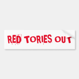 赤い保守党 バンパーステッカー
