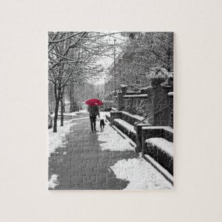 赤い傘 ジグソーパズル