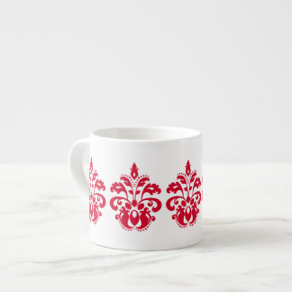 赤い優雅のビクトリア時代の人のダマスク織 エスプレッソカップ