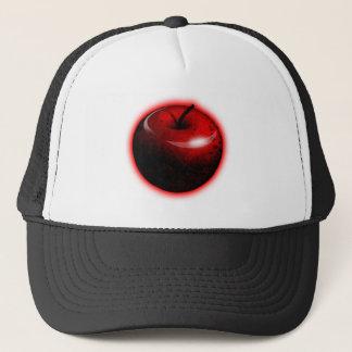 赤い光沢があるApple -禁止されたフルーツ キャップ
