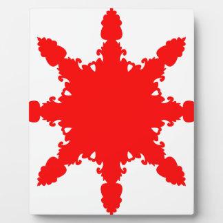 赤い円のプリント フォトプラーク