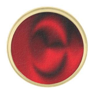 赤い円パターン ゴールド ラペルピン