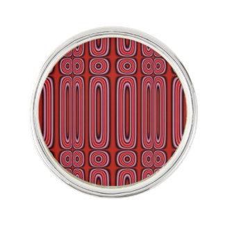 赤い円パターン ラペルピン
