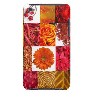 赤い写真のコラージュ Case-Mate iPod TOUCH ケース