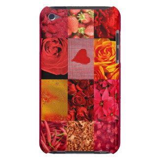赤い写真撮影のコラージュ Case-Mate iPod TOUCH ケース