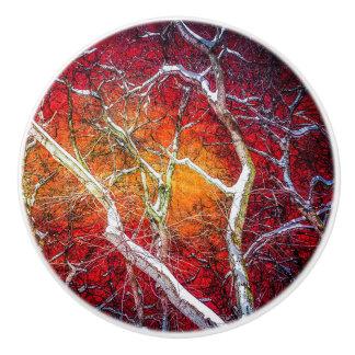 赤い冬夜 セラミックノブ