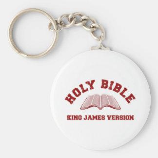 赤い動揺してのジェームスVersion聖書王 キーホルダー