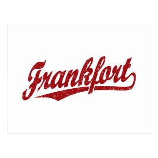 赤い動揺してのフランクフォートの原稿のロゴ ポストカード
